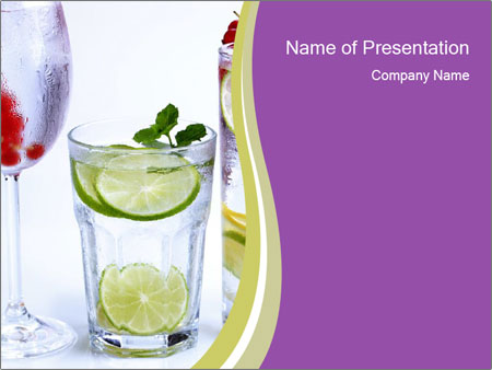 Summer Lime Drink PowerPoint Template