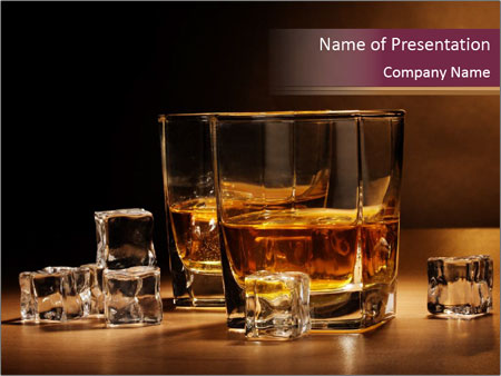 Glasses with Rum PowerPoint Template