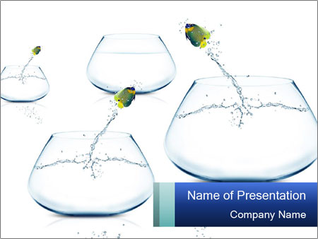 Set of Aquariums PowerPoint Template