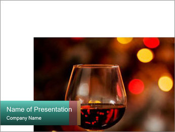 Cognac on Sparkling Background PowerPoint Template