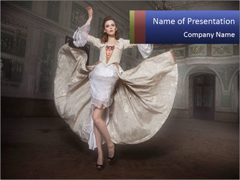 Vogue Model Cover Photo PowerPoint Template
