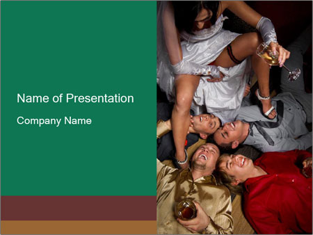 Drunk People PowerPoint Template
