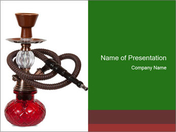 Red Turkish Shisha PowerPoint Template