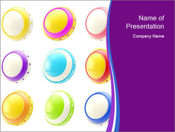 Colorful Buttons PowerPoint Template