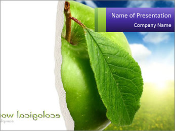 Organic Green Apple PowerPoint Template