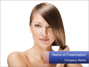 Long Shiny Hair PowerPoint Template