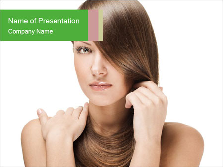 Model with Gorgeous Blond Hair PowerPoint Template