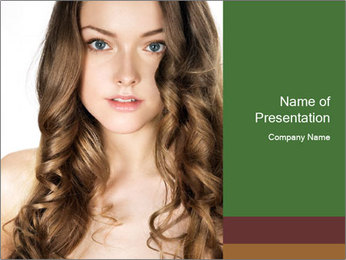 Blond Curly Lady PowerPoint Template