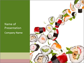 Sushi Appetizer PowerPoint Template