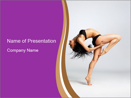 Dancer with Flexible Spine PowerPoint Template