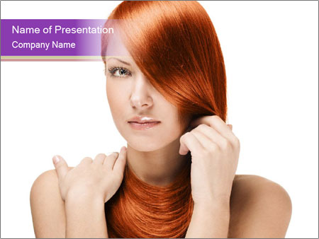 Perfect Red Hair PowerPoint Template