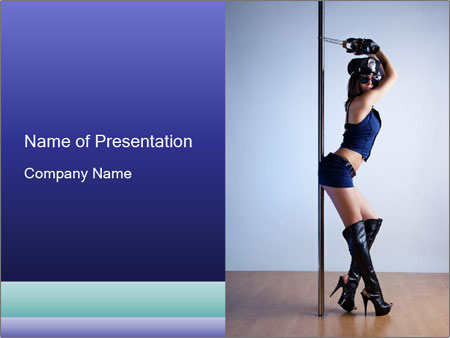 Sexy Pole Dancer PowerPoint Template