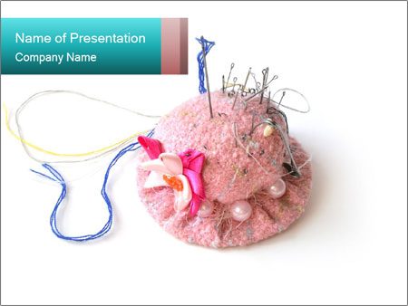 Handmade Needle Case PowerPoint Template