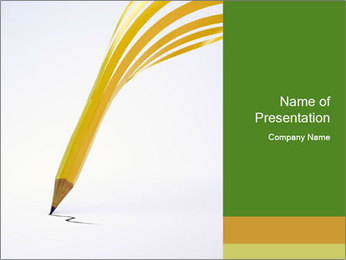 Creative Pencil PowerPoint演示模板