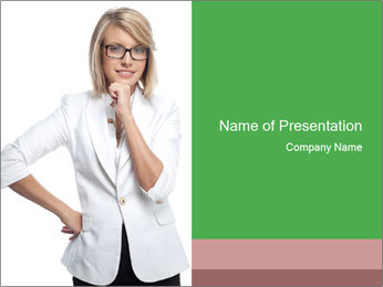 Serious HR Manager PowerPoint Template