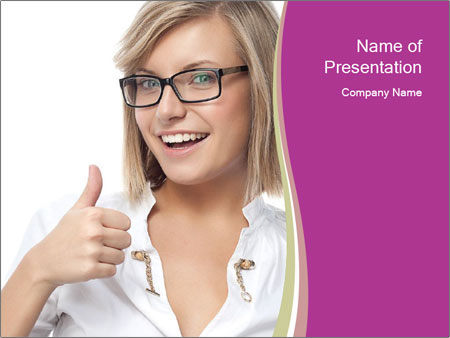 Cheerful Student PowerPoint Template