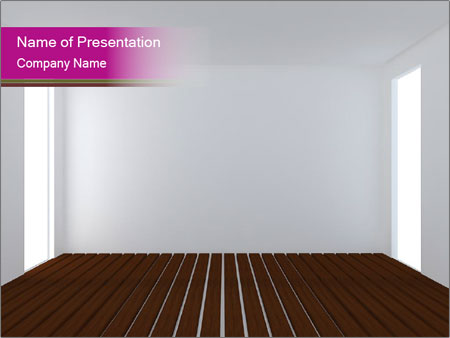 Room With White Walls And Black Floor Powerpoint Template