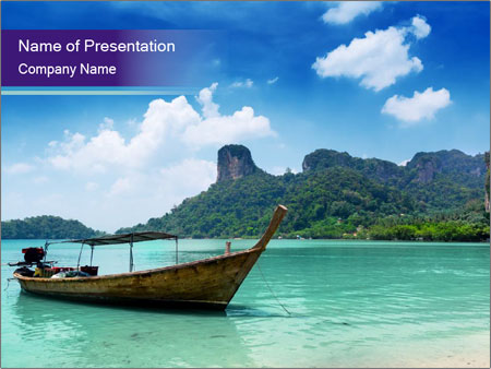 Thai Travel Trip PowerPoint Template & Infographics Slides