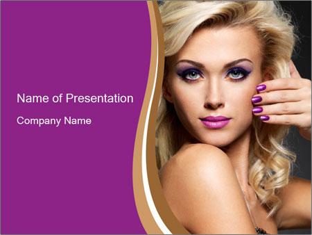 Violet Nail Color Шаблоны презентаций PowerPoint