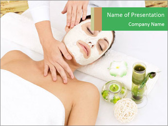 Spa Facial Mask PowerPoint Template