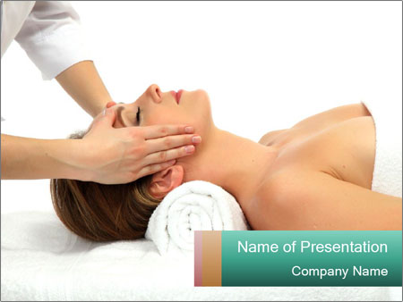 Facial Massagist PowerPoint Template