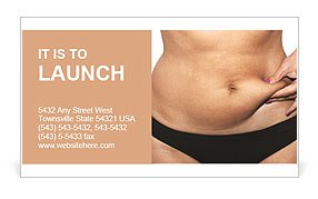 Female Fat Belly Business Card Template