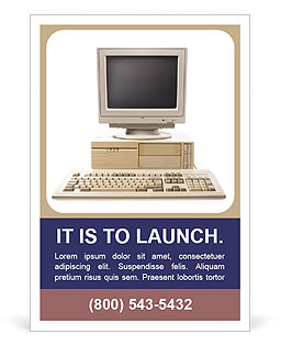 Old Computer Ad Template