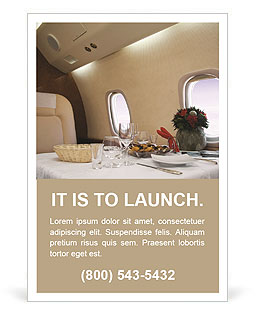 Business Class Travel Ad Template