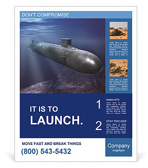 Submarine Poster Template