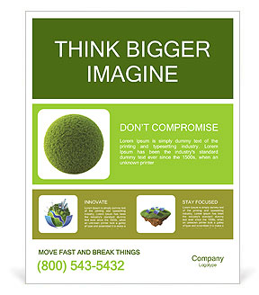 Grass Sphere Poster Template