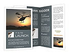 Helicopter Brochure Template