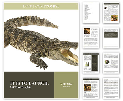 Crocodile Word Template