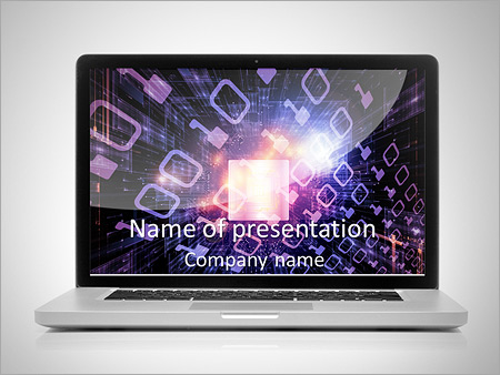 Modern Laptop PowerPoint Template