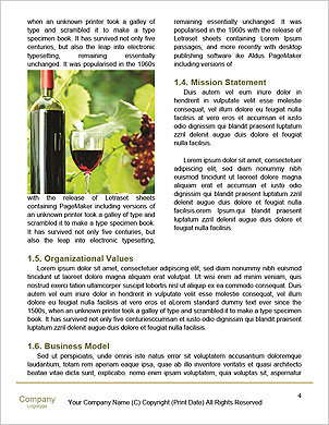 Best Wine Word Template - Page 4
