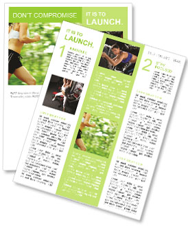 Jogging In Summer Newsletter Template
