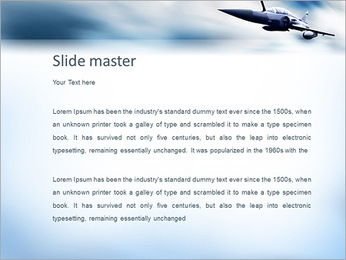 Fighter Plane PowerPoint Template