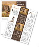 Walk With Dog Newsletter Template