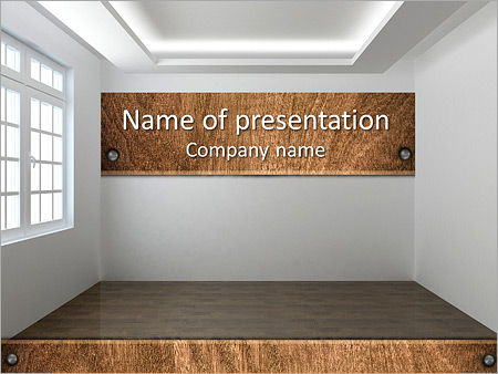 Empty Room PowerPoint Template & Infographics Slides