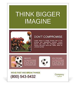 Americal Football Poster Template