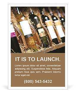 Wine Shop Ad Template