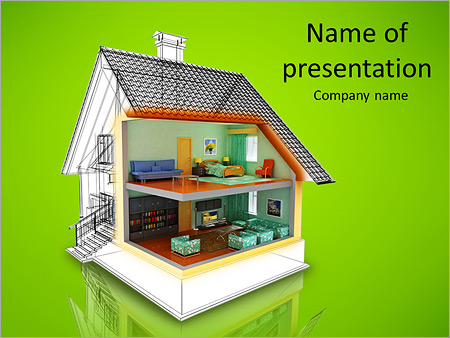House Plan PowerPoint Template