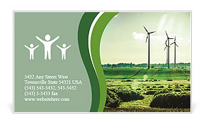 Wind Generators, Ecology Business Card Template