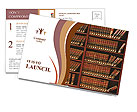 Law book library Postcard Template