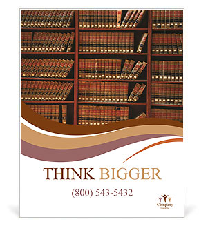 Law book library Poster Template