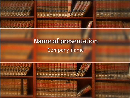 Law Book Library Powerpoint Template Infographics Slides