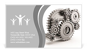 Steel gear wheels - tools and settings icon Business Card Template