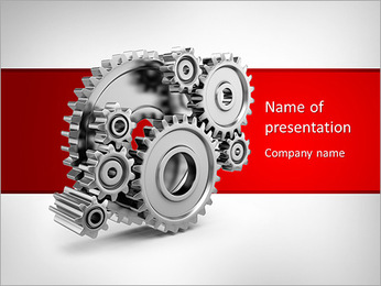 Çelik dişli çarklar - araçları ve ayarları simgesi PowerPoint sunum şablonları