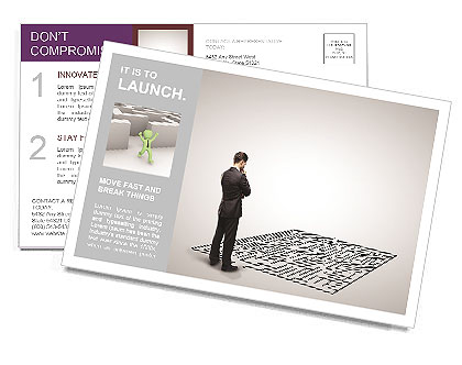 Business Labyrinth Postcard Template