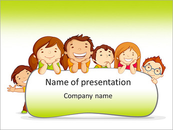 Cartoon For Kids Point Template