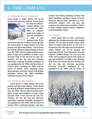 Winter Sled Word Template - Page 3